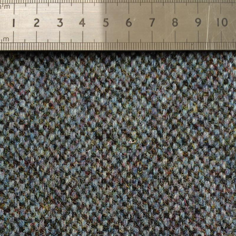 014 DARK GREEN DONEGAL WOOL FABRIC