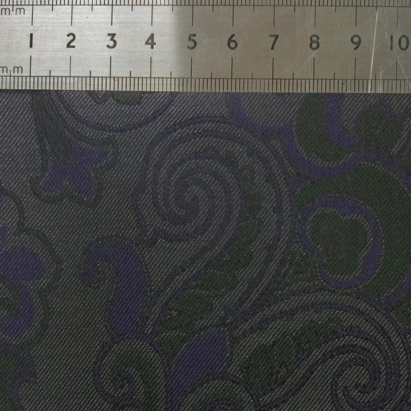 016 GREEN AND PURPLE LARGE PAISLEYS SILK FABRIC Made To Order Fabrics Shaun Gordon