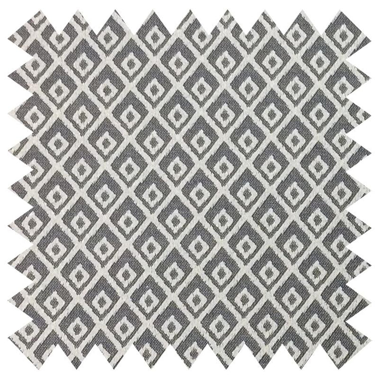 025 GREY DIAMOND GRID PATTERN SILK FABRIC