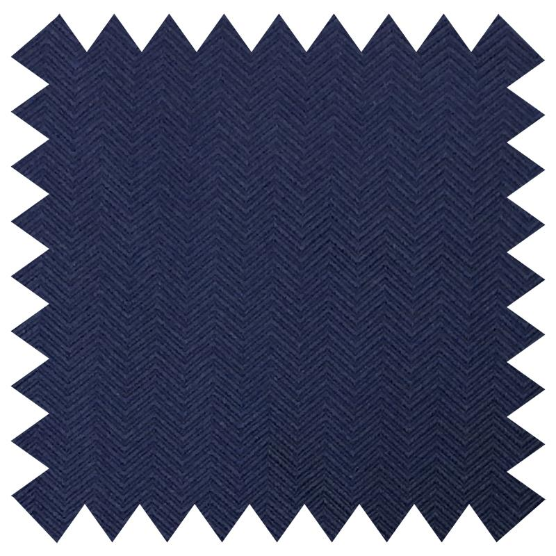 SHAUN GORDON NAVY HERRINGBONE SILK FABRIC