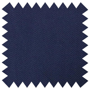 026 NAVY HERRINGBONE SILK FABRIC Made To Order Fabrics Shaun Gordon
