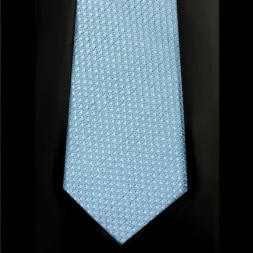 052 LIGHT BLUE SILK GRENADINE MADE TO ORDER TIE