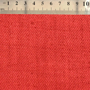 063 RED HERRINGBONE RAW SILK MADE TO ORDER FABRIC TIE