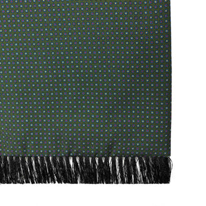 Elias Green Flowers Silk & Wool Backed Scarf