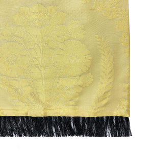 Owen Yellow Floral Silk & Wool Backed Scarf