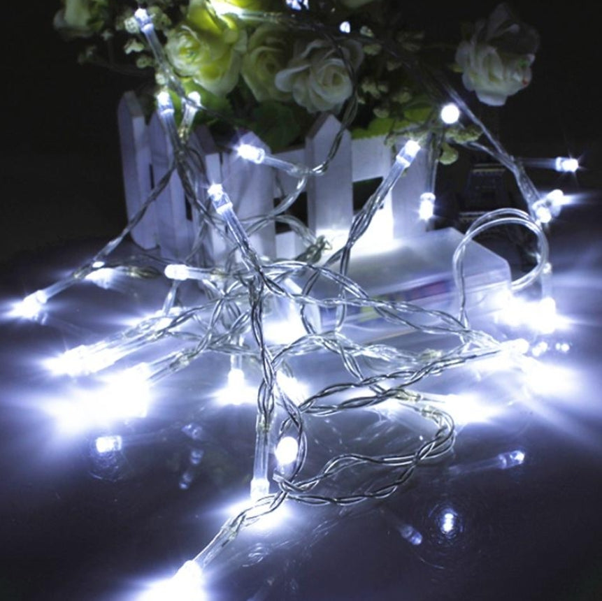 1M 10 Led String Camping, Garden or Christmas Outdoor Fairy Lights Battery | Ego-Silencer