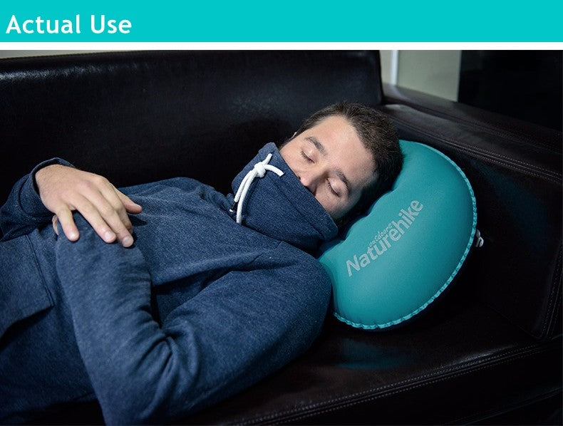 Portable Outdoor Inflatable Cushion Soft Neck Protective Headrest | Ego-Silencer