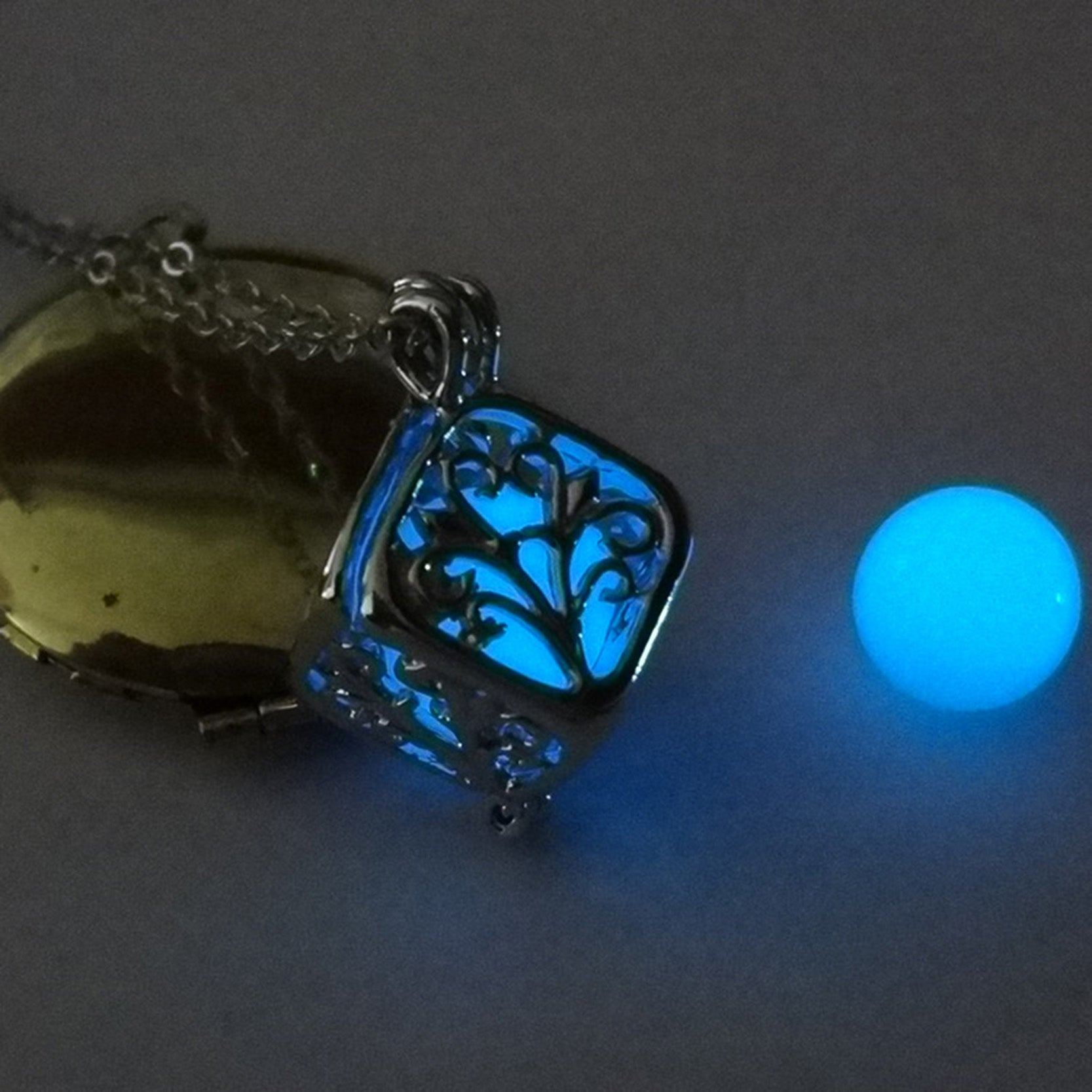 Tree Of Life Dark Luminous Glow in the Dark Pendant Necklace | Ego-Silencer