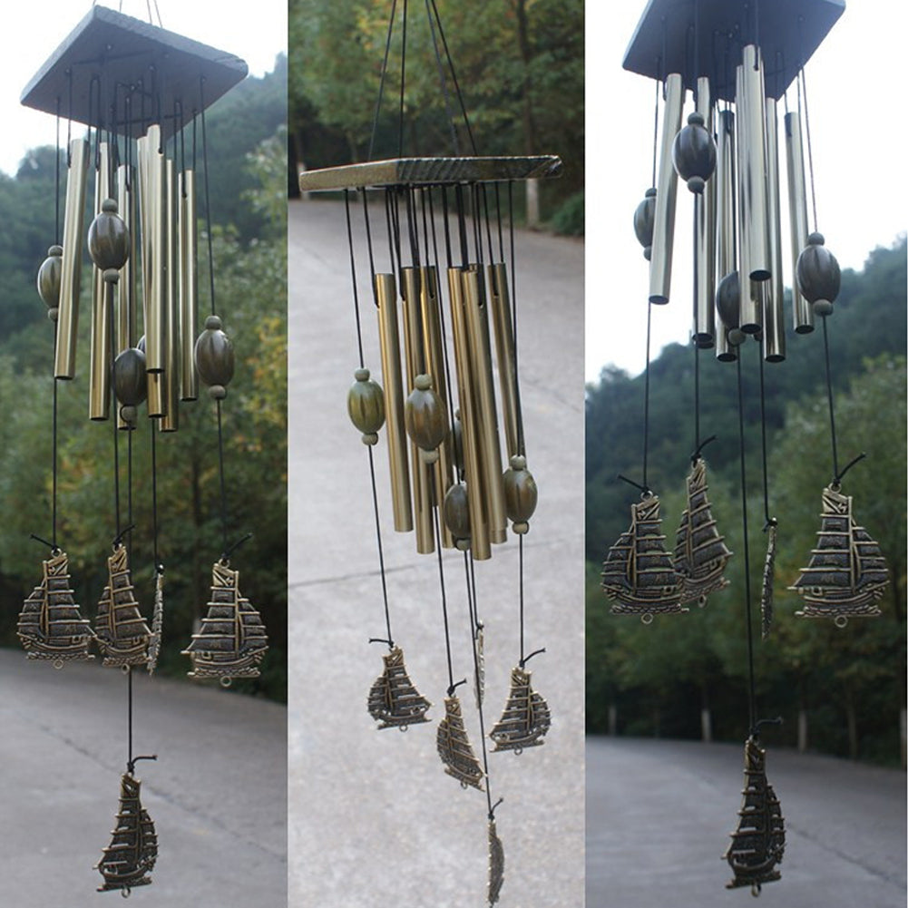12 Tube Fengshui Sailboat Windchimes