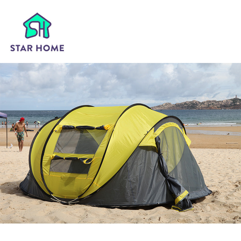 Large 3-4 Persons Automatic 2 Second Pop Up Waterproof Tent | Ego-Silencer