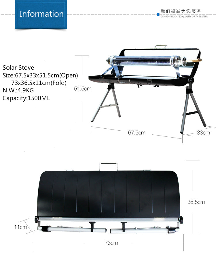Portable Solar Barbecue Stove Grill | Ego-Silencer
