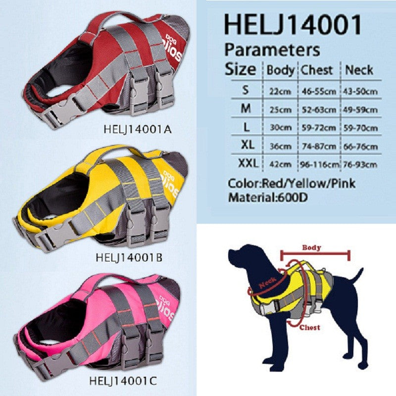 Travel 3M Reflective/Adjustable Buoyant Dog Harness and Life Jacket | Ego-Silencer