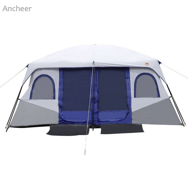8-10 Person 2-Bedroom 2-Persont Dual Layer Waterproof UV Protected Tent | Ego-Silencer