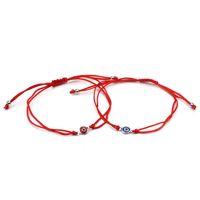 Thin Red Thread Evil Eye Charms Braided 7 Colors Bracelets Adjustable Length | Ego-Silencer