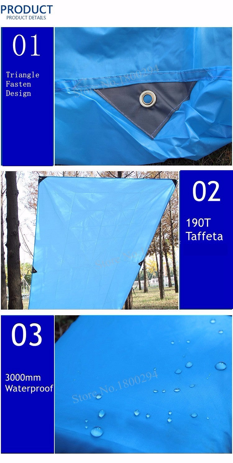 Ultralight Sun Shelter Roof Awning Canopy Tarp 5 Colors 3 Sizes | Ego-Silencer