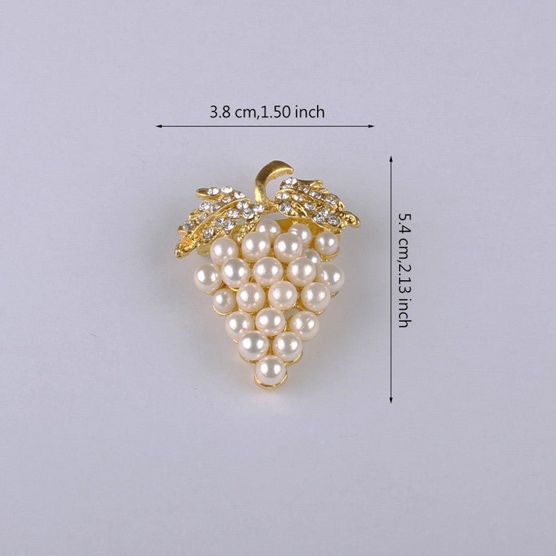 Gold-color Imitation Pearl Brooch Rhinestone Brooch | Ego-Silencer