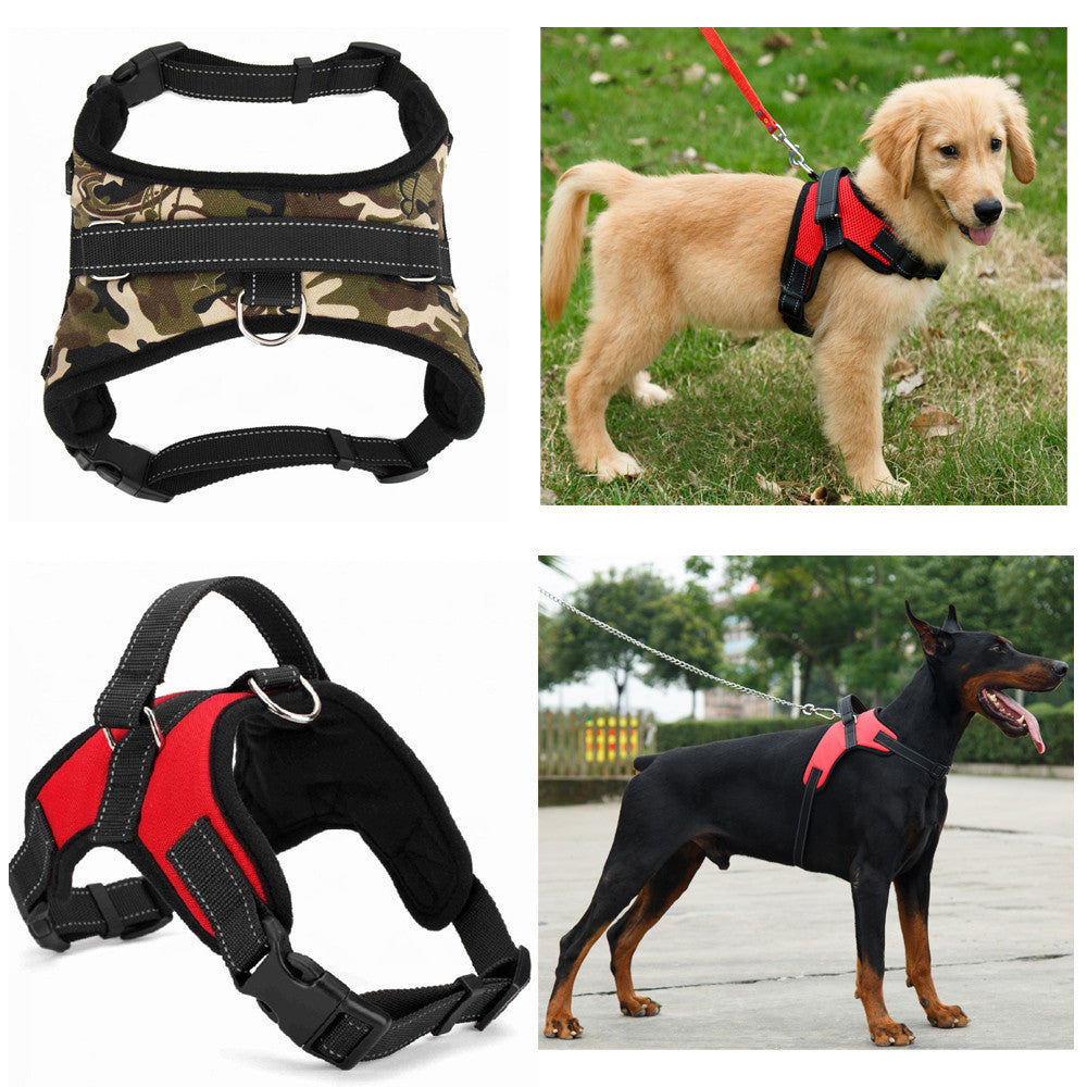 Nylon Heavy Duty Dog Pet Padded Harness Collar 3 Colors | Ego-Silencer