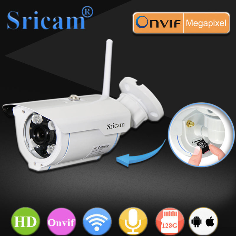 Outdoor Bullet WiFi IP Camera for Security Waterproof CCTV Surveillance Phone Smart Home Cam