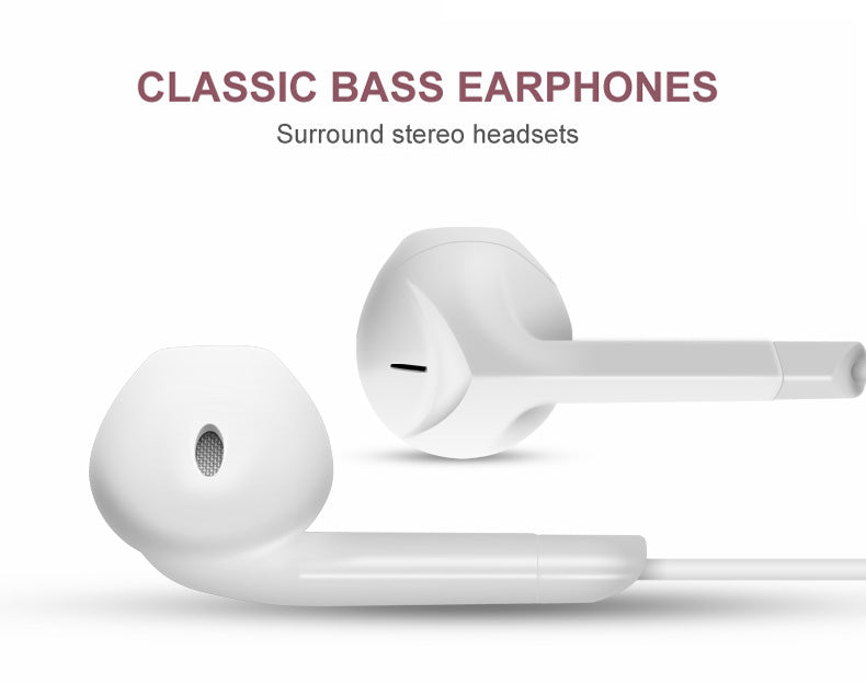 Earphone Headphone with Microphone Stereo Earbuds for iPhone Android | Ego-Silencer