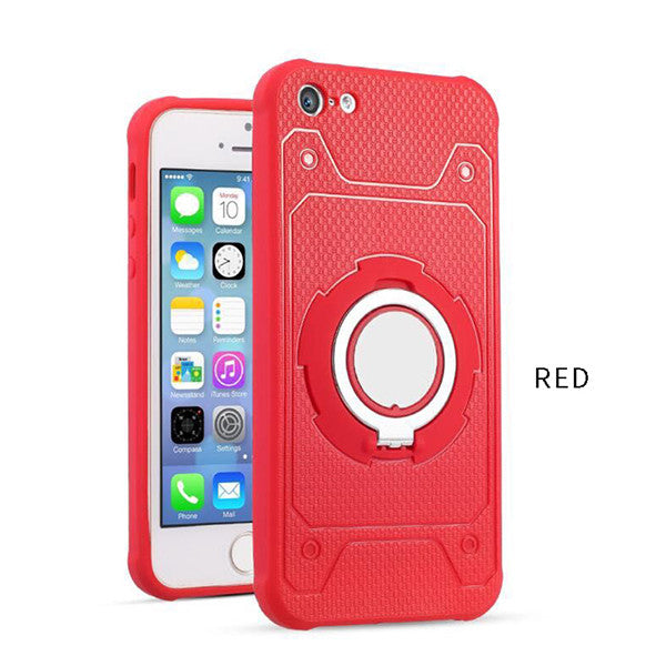 Phone Cases For iphone 7 6 6s Plus 5 5s SE Case Car Holder Stand Magnetic Suction Bracket Finger Ring | Ego-Silencer