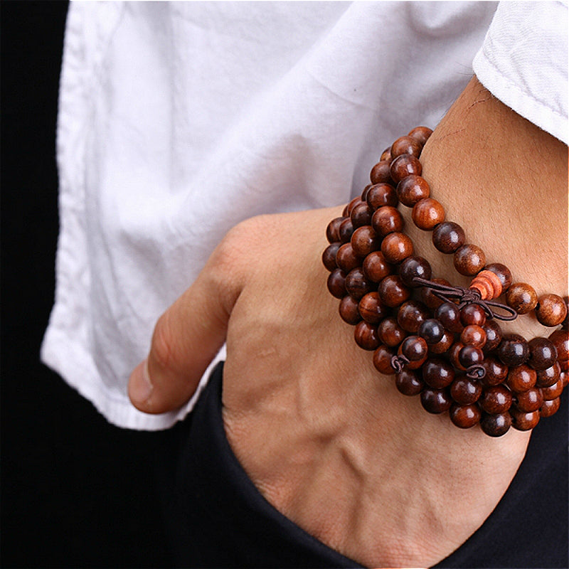 108 Mala Beads Sandalwood | Ego-Silencer