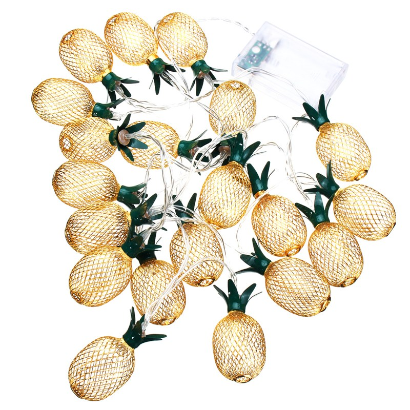 230CM Warm White 20 LED String Light Christmas Pineapple Shaped Lanterns | Ego-Silencer