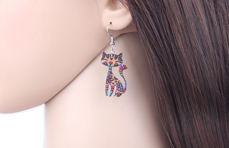 Cat Necklace Earrings 5 Colors Jewelry Sets | Ego-Silencer
