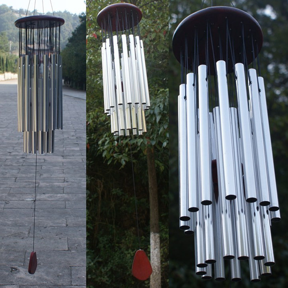 Antique Wind Chimes 27 Tubes 5 Bells Outdoor Living Yard Windchimes Garden Tubes Bells Wind Chimes Hanging Home Decor