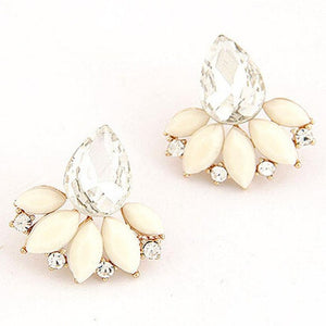FREE!! Rhinestone Crystal Drop Alloy Ear Stud Earrings | Ego-Silencer