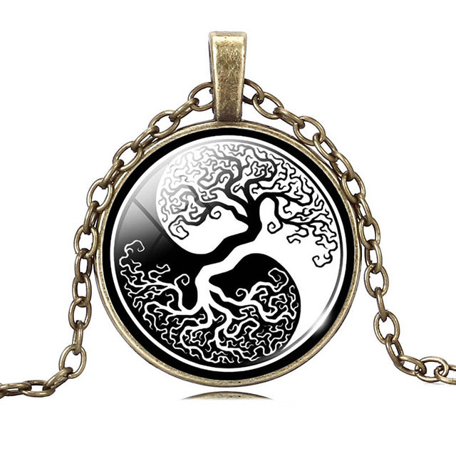 Vintage Tree of Life Necklace & Pendant with Bronze Chain | Ego-Silencer