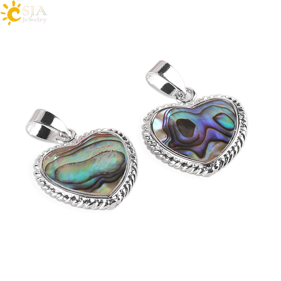 New Zealand Natural Paua Abalone Shell Pendant | Ego-Silencer