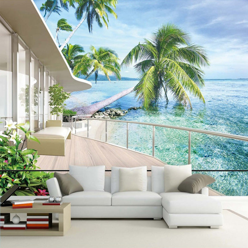 Photo Wallpaper Hawaii Villa Balcony Landscape | Ego-Silencer