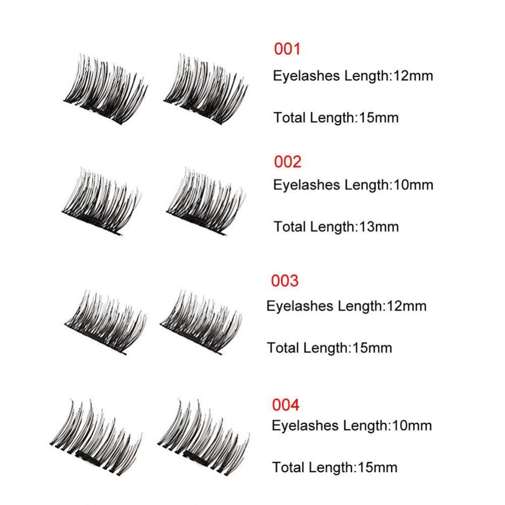 4PCS Magnetic Eyelashes 3D Reusable False Magnet Eyelash Extensions | Ego-Silencer