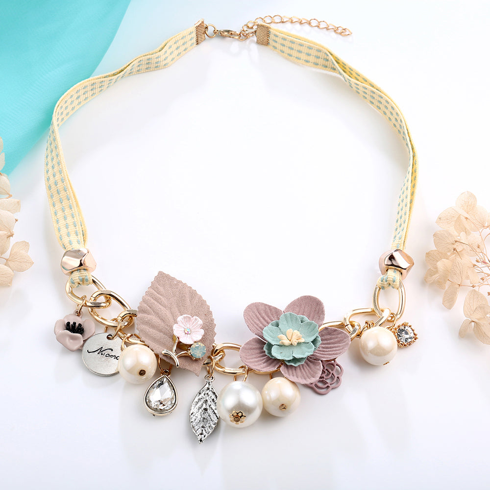 Necklaces & Pendants for Women 3 Colors Choker Simulated Pearl Flower | Ego-Silencer