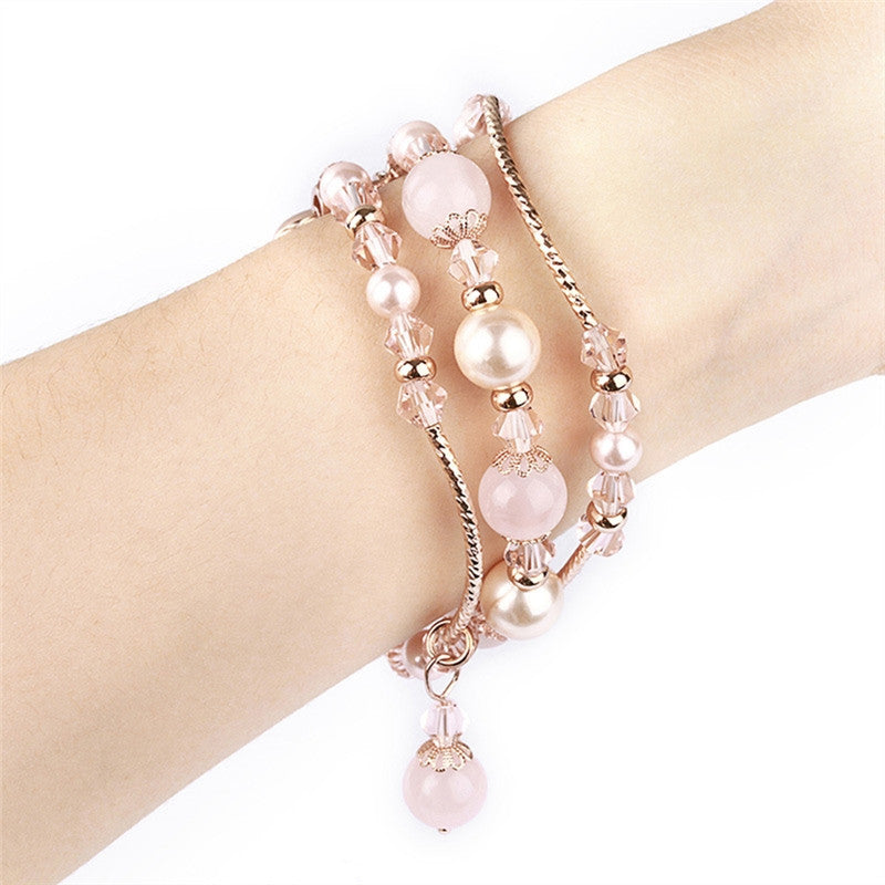 Handmade Elastic Stretch Beaded Agate 3 Colors-2 Sizes Natural Stone Bracelet Replacement for Apple Watch | Ego-Silencer