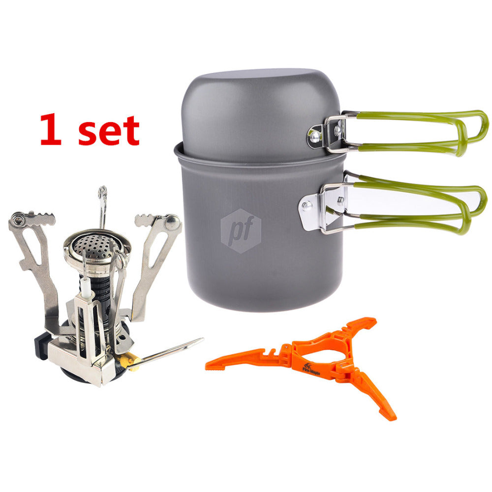 Compact 2pcs Foldable Pot Pan Set+Stand Canister Tripod | Ego-Silencer