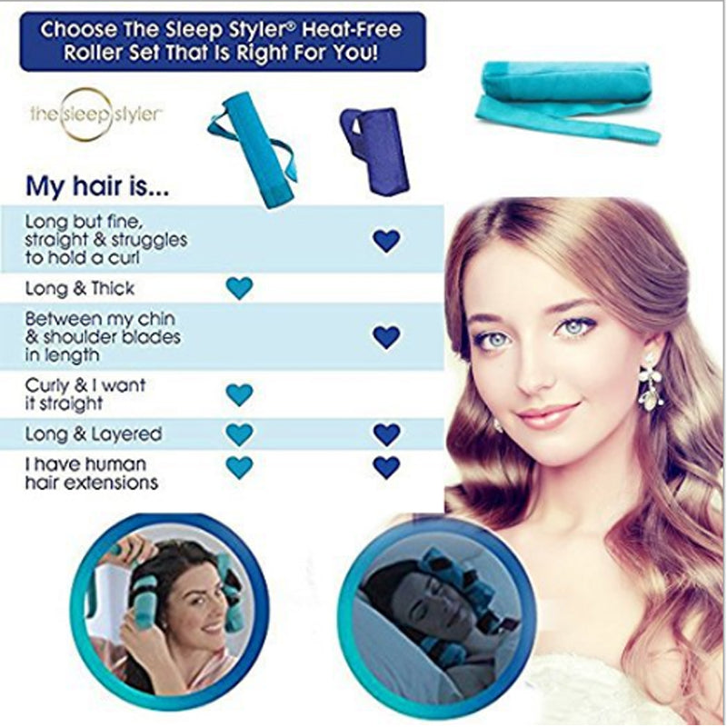 12 Pcs/  Best Seller Sleep Styler Roller Magic Cotton Curlers DIY Styling Tools | Ego-Silencer