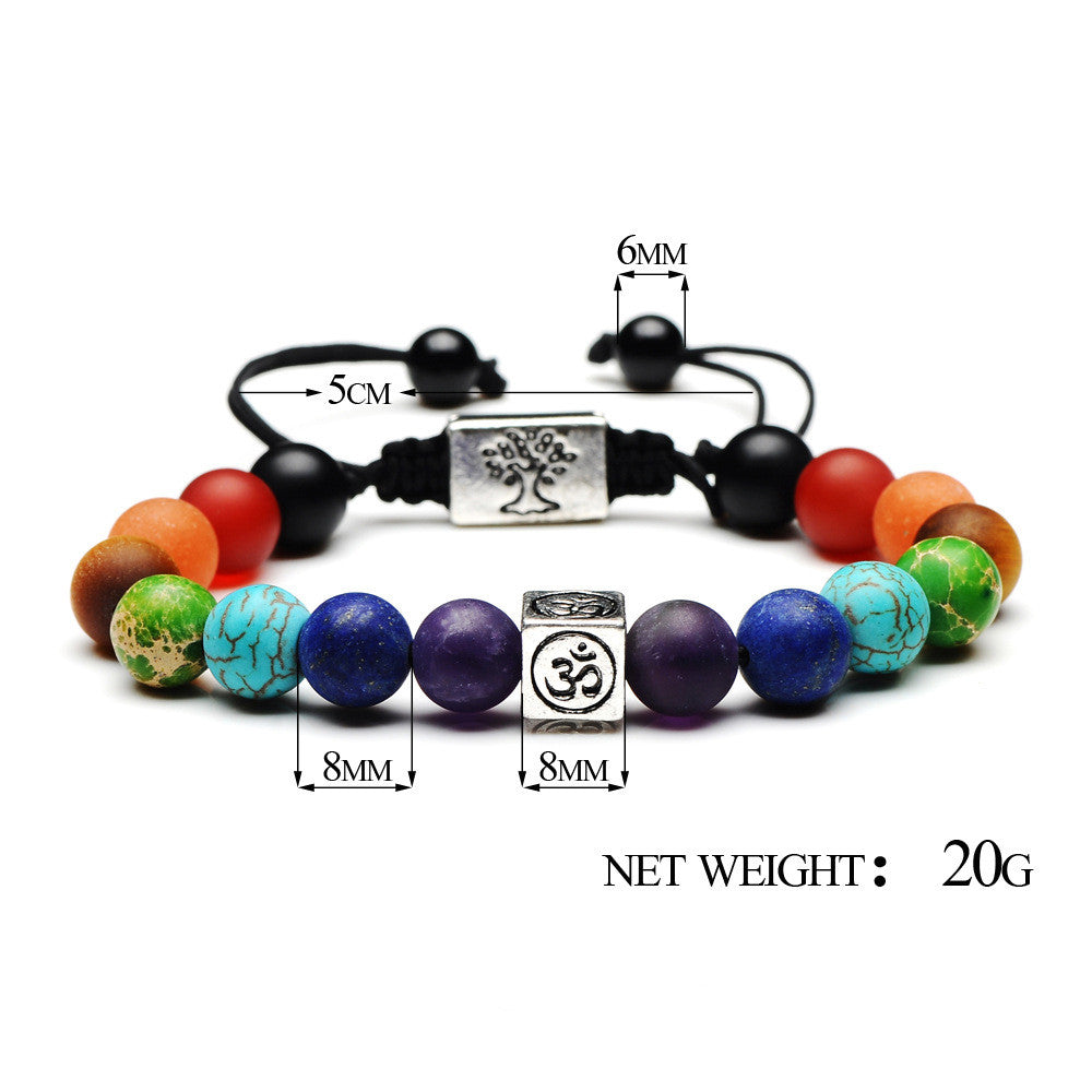 Tree of Life 7Chakra Tiger Eye 108 Beaded  Mala Bracelets Buddha Healing | Ego-Silencer
