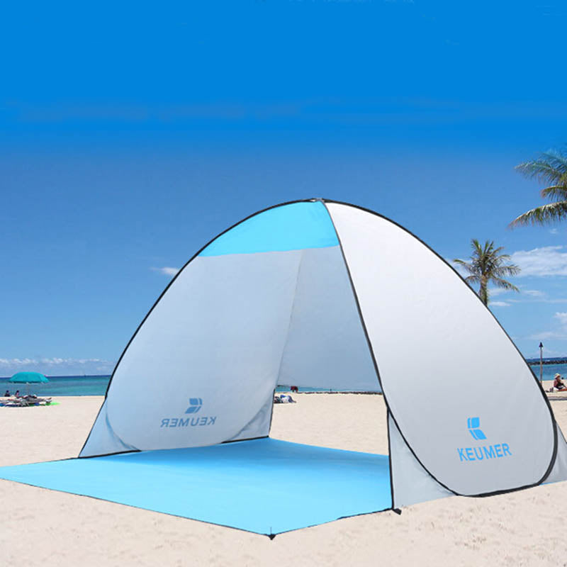 UV Protection Automatic Pop up Cabana Sun Shelter for 1-2 Persons | Ego-Silencer