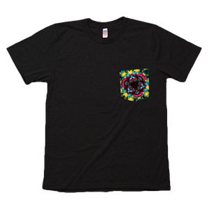 Psychedelic Queen Of Fruits Graphic Pocket Tee