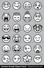 Emoji Clipart Black and White Royaly Free