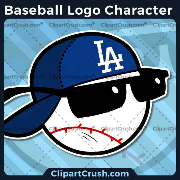 Cartoon Baseball Logo Clipart - Baseball Mascot Logo