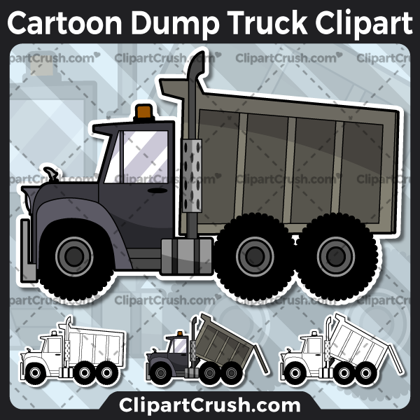 Vector SVG PNG Dump Truck clipart for teachers, school, kids, businesses or anyone that needs a cool Dump Truck for their projects. Black & white Dump Truck vector line art included. Great for logos, icons, curriculum.