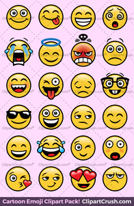 emoji clip art png faces transparent expressions