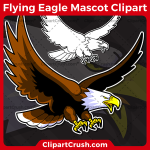 Unique and original SVG PNG Flying Eagles Mascot Logo clipart for your school or team. Black & white Flying Eagle vector line art included. Great for Soda, soccer, football, lacrosse, baseball, or softball sports teams that are proudly represented by a Flying Eagles Mascot! Eagle PRIDE!