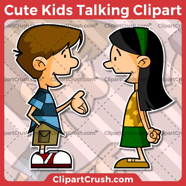 Vector SVG PNG Kids Talking clipart for teachers, school, kids, businesses or anyone that needs a cool Kids Talking for their projects. Black & white Kids Talking vector line art included. Great for logos, icons, curriculum.