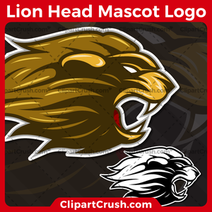Unique and original SVG PNG Lion Heads Mascot Logo clipart for your school or team. Black & white Lion Head vector line art included. Great for Mountains, soccer, football, lacrosse, baseball, or softball sports teams that are proudly represented by a Lion Heads Mascot! Lion PRIDE!
