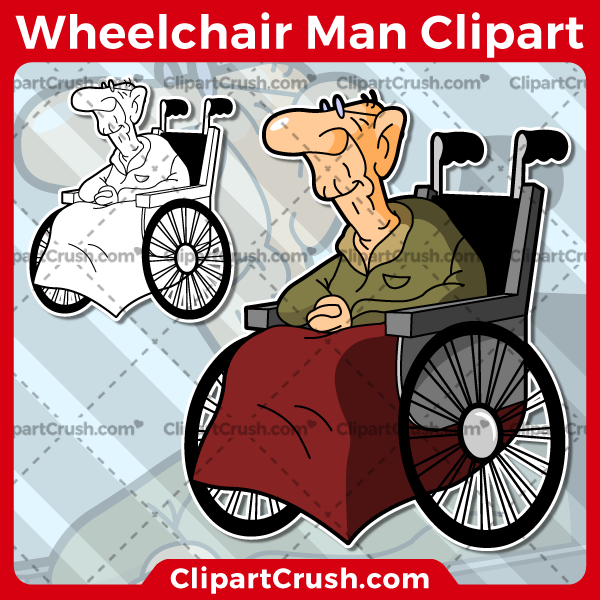 Vector SVG PNG Old Man in a Wheelchair clipart for teachers, school, kids, businesses or anyone that needs a cool Old Man in a Wheelchair for their projects. Black & white Old Man in a Wheelchair vector line art included. Great for logos, icons, curriculum.
