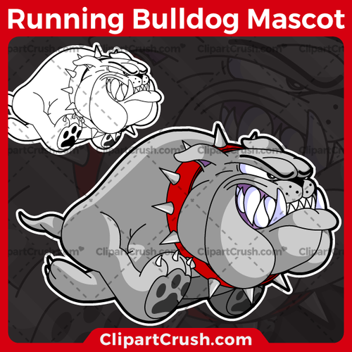 Unique and original SVG PNG Running Bulldogs Mascot Logo clipart for your school or team. Black & white Running Bulldog vector line art included. Great for football, football, lacrosse, baseball, or softball sports teams that are proudly represented by Running Bulldogs PRIDE!