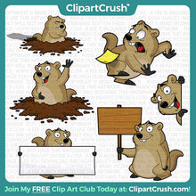 Royalty Free Groundhog Day Clip Art!